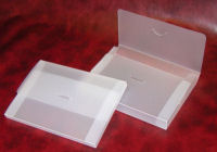 A5 document boxes produced frosted clear polypropylene